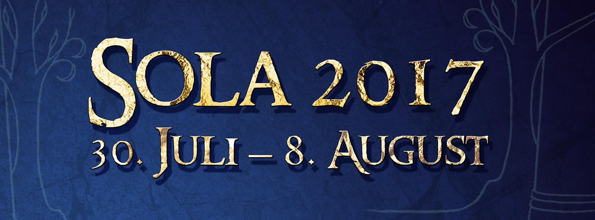 Banner: Sola 2017 30. Juli - 8. August